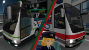 【MMDMPG2016】空港連絡バスの仁義なき戦い!!