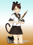 【MMD艦これ】猫耳と秋刀魚祭り【アクセサリ配布】