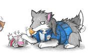 瑞鶴ネコとローソン加賀犬
