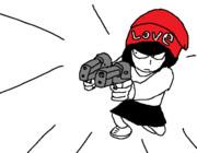 【LOVE】LOVEニット平手 二丁拳銃