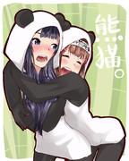 【パンダ先輩とパンダ後輩】はるるんともがみん