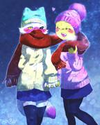 雪の日のひと時。。。JK fnaf...