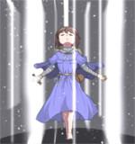 天使の光柱を使う雪歩