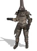 【MMDモデル配布】Cone helm armor