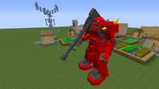 【minecraft】ジョニーザクの頭部を変えてみました【jointblock】