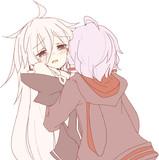 いあちゃんが涙目で好きな人に抱きしめられている絵
