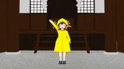 【東方MMD】雨合羽をちび霊夢に着せてみた