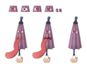 小傘ちゃんの唐傘立ち絵