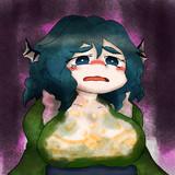 タルタルソースに胸を犯されるわかさぎ姫(着物の中差分)
