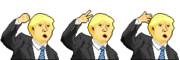 ジャンケンをするトランプ大統領