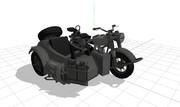 【MMD】ドイツ軍サイドカー「BMW・R75」【モデル配布】