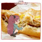 ハンバーガーと杏子ちゃん。