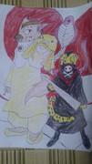 少年ジャンプの休載漫画のキャラを動物にした「第5弾」に色塗った