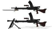 伍長式九六式・九九式軽機関銃MMDモデル配布します
