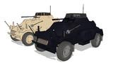 伍長式Sdkfz222 MMDモデル配布