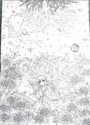 鶴神 線画