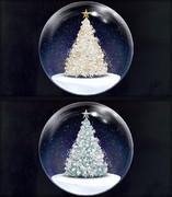 【MMDステージ配布】スノードームステージ 聖夜のツリー