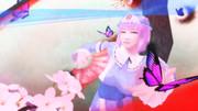 蝶と桜と幽々子様