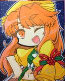 クリスマスっぽいオレンジちゃん