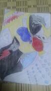 少年ジャンプの休載漫画のキャラを動物にした「第6弾」に色塗った