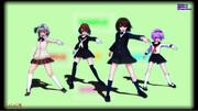 【MMD】【MMD】東方制服美少女団?【アリス・みょん・射命丸・さとり】