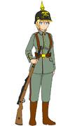 WW1初期のドイツ軍歩兵
