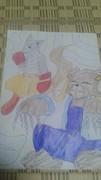 少年ジャンプの休載漫画のキャラを動物にした「第7弾」に色塗った