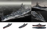 MMD用モブ超弩級戦艦1942(サウスモブブ)セット