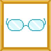 [りんご飴]→ドット絵しりとり→[メガネ]