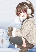雪だるまとゆっこ