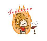 焼き芋を焼く茜ちゃん