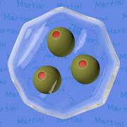 カクテルの八角形3「マティーニ」