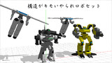 【MMDオリメカ】構造がキモいやられロボセット!配布!