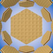 六角形のウェハース