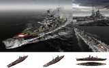 MMD用モブ巡洋戦艦1940(シャルンモブスト)セット