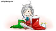 プレゼントを楽しみにしている朝霜ちゃん