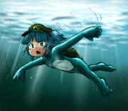 水の中をすーいすい