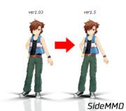 【SideMMD】橘志狼 ver1.5【モデル更新】