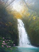 日だまりの滝