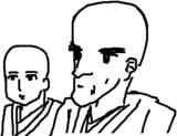 (右) 彦壱が描く男キャラの顔つきは凛としてイケている