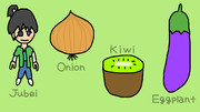 JOKE (Jubei, Onion, Kiwi, Eggplant)