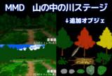 【MMD】Gスカ式森の中の川ステージの配布