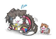 プラズマモルモットにビビる大和ネコ