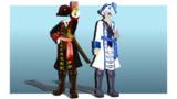 【MMD衣装配布】海賊風セット