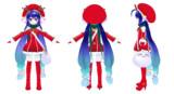 【MMDモデル配布】音街ウナ(公式モデル改)サンタウナVer1.0
