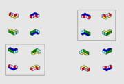エナンチオマー / なぜ、逆になるのは、青と黄色なのか?