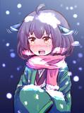 雪をはらってあげたい
