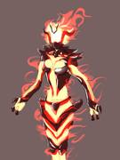 らくがきスカイリムの炎の精霊