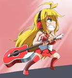 ギターで殴る。