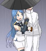 傘を忘れた五月雨